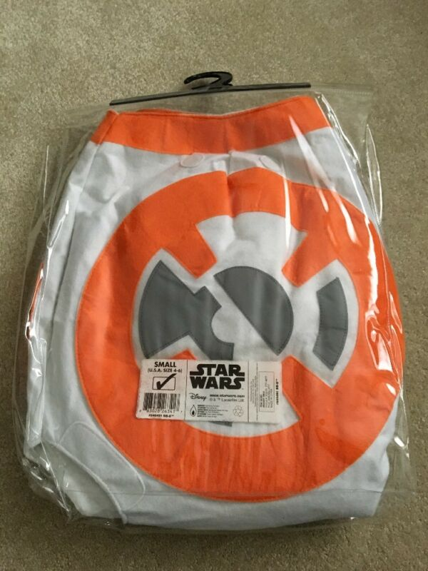 New NWT Disney Star Wars BB-8 3D Halloween Costume Small 4-6