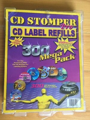 Cd Stomper Pro Cd Label Refills 150 Sheets 300 Labels Mega Pack Used