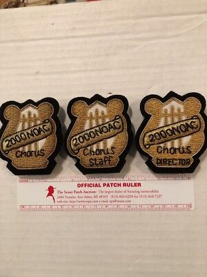 OA 2000 NOAC BROTHERHOOD CHORUS RARE SET OF 3 Bullions Only 5 DIRECTOR bullions