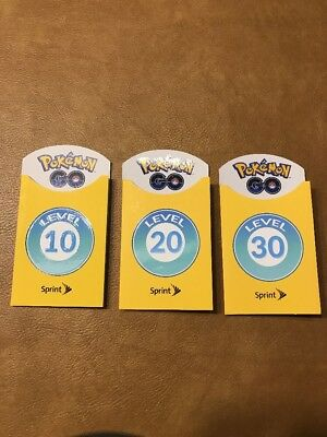 Pokemon Go Trainer Badge Level 10 Level 20 Level 30 Set Of 3