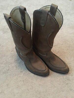 NWOT DOUBLE-H Work Western Aeroglide Genuine Leather Men's Cowboy Boots Size 7D