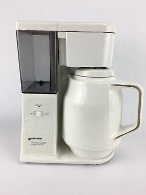 Black & Decker TCM411 8-Cup Coffee Maker with Thermos Thermal Carafe-White Decker 8 Cup Thermal