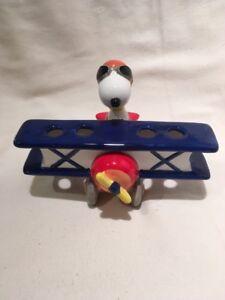 Snoopy Aviator Toothbrush Holder Ceramic Plane