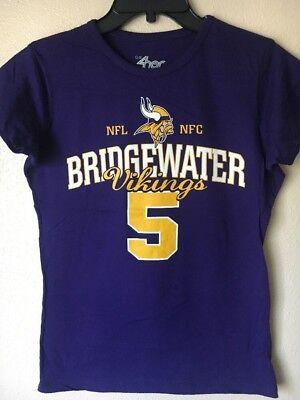 G Iii 4Her By Carl Banks Women S Purple  T Shirt Vikings Bridgewater Size Medium
