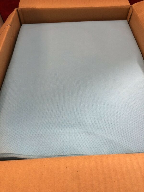 """New Case Of 50 Tidi Fitted Straight Sheet Nonwoven Pocket Fit Blue 25x72"""" 950551"""