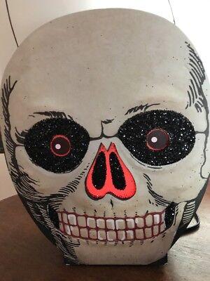 Bethany Lowe Halloween Skull Lantern--retired- Light Cord Included