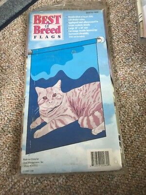 "BEST OF BREED  Flag FULL 28"" X 40"" NEW 420 DENIER NYLON - Cat - Kitty"