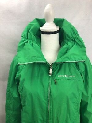 Tall Green Grass (ZEROXPOSUR Green Grass Raincoat Gathered Neck Tall Collar Ladies Small)