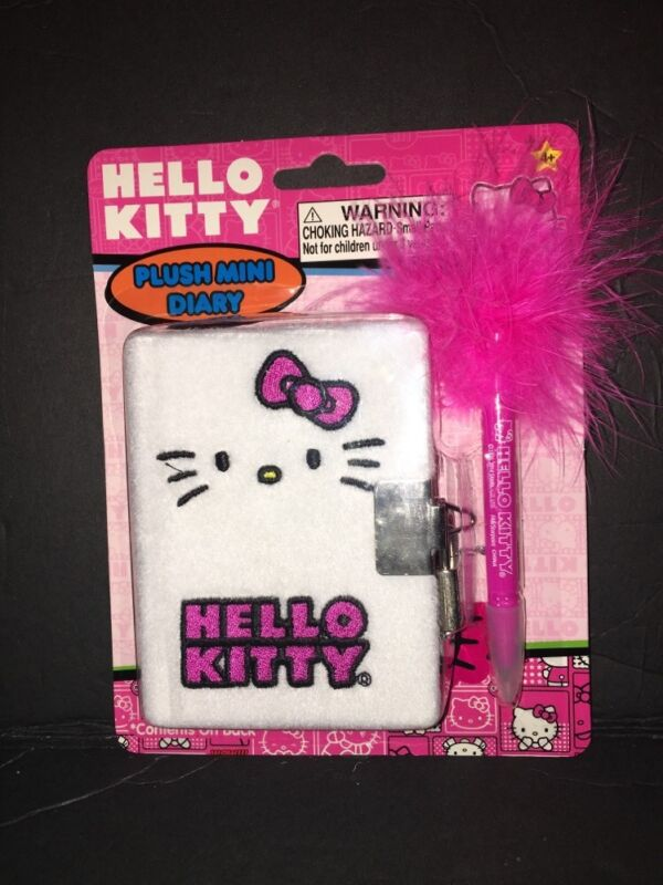 BRAND-NEW...HELLO KITTY PLUSH MINI DIARY.