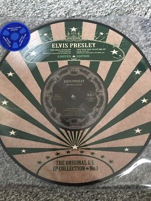 "ELVIS PRESLEY US EP COLLECTION 3 10"" ltd EP Picture Disc Vinyl The Real Elvis"