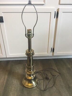 Vtg Stiffel Classic Tall Brass Table Lamp Candlestick 3 Way socket Mid Century (Classic Brass Table Lamp)