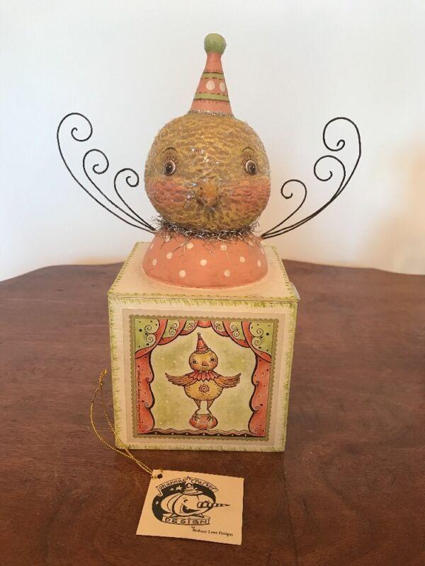 Bethany Lowe Johanna Parker Chick on a Candy Box—retired