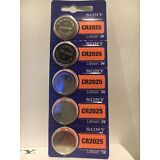 5 NEW SONY CR2025 3V Lithium Coin Battery Expire 2025 FRESHLY NEW - USA Seller