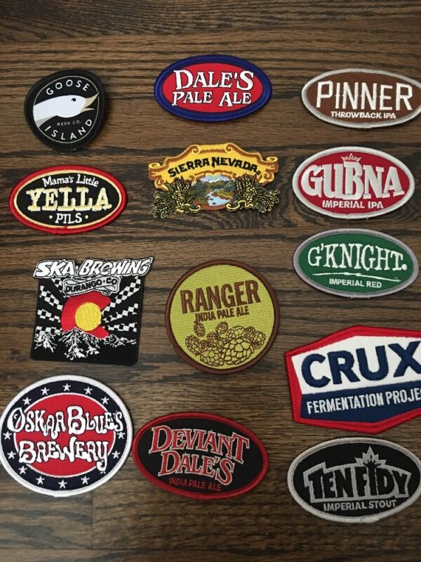 BEER PATCHES~ Craft Beer Patches ~ Iron On ~ Beer Logos