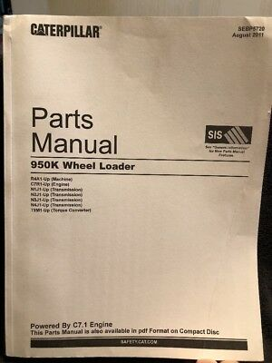 Caterpillar 950k Wheel Loader Parts Manual R4a1-up Sebp5720 August 2011