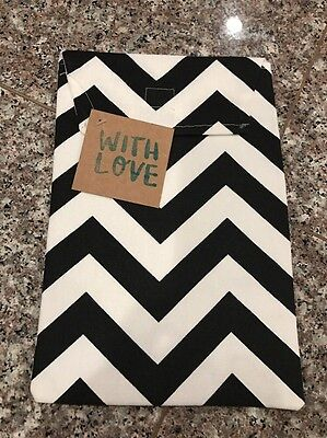 Custom Boutique Baby Wipes Travel  Wipe Diaper Pouch Clutch Black White Chevron
