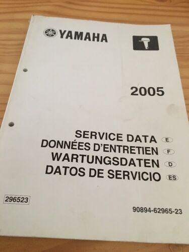 yamaha moteur hors bord service data données entretien revue technique 2005