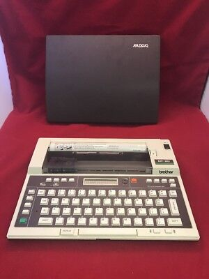 Vintage Brother Dot Matrix Portable Typewriter Ep-20 Excellent Condition B2