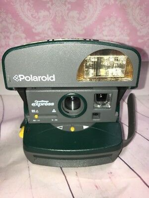 Polaroid One Step Green Express 600 Close Up Instant Film Camera Sold Not Workin