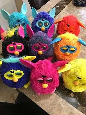 Furby's 9 Piece Different Color Tested 2012 EUC WORKING!!