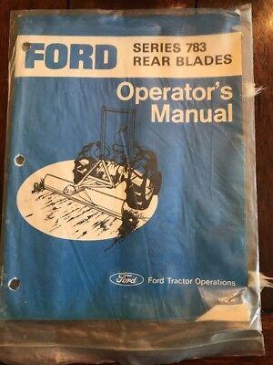 Ford Series 783 Rear Blades Operators Manual