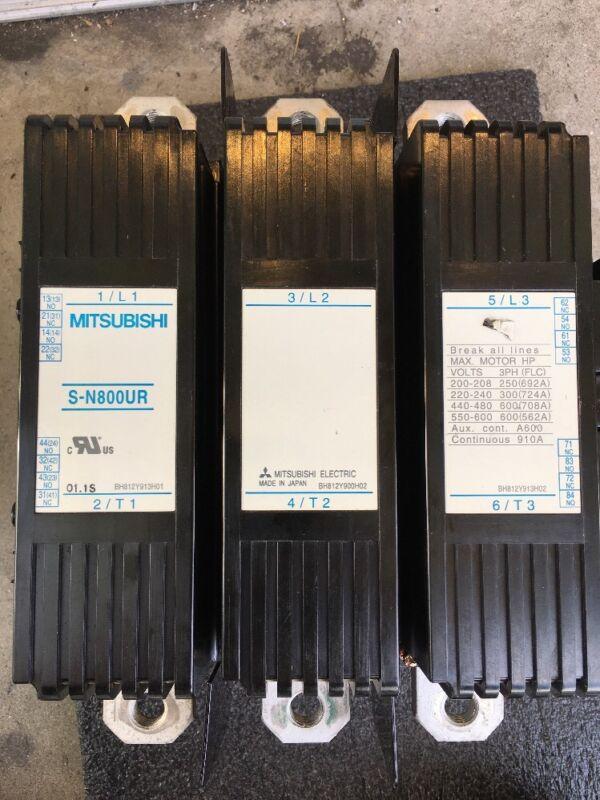 MITSUBISHI CONTACTOR S-N800UR 200-240V COIL 3 POLE 600HP CONTAC NEW
