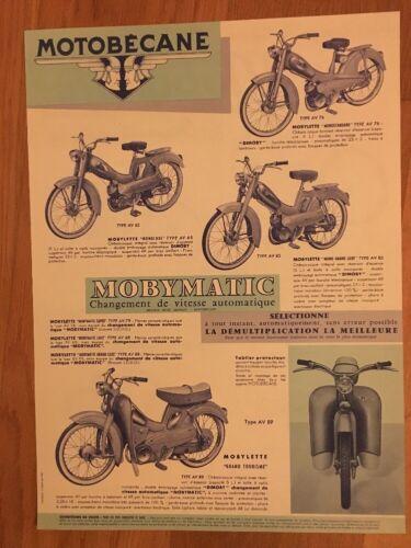 Affiche publicité motobécane Mobylette AV32S BG43 AV44 AV76 AV85 AV89 AV65