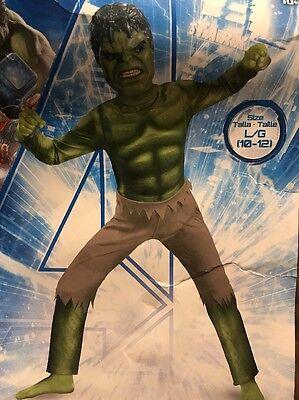 Avengers Hulk Costume Boy Large (10–12) - Hulk Boys Costume