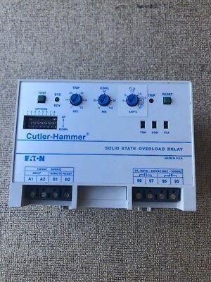 C310cna3 Serial A1 . Cutler Hammer Solid Sate Overload Relay