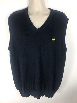 EUC Masters Collection Pima Cotton V-Neck Sweater Vest Navy Blue SZ XL