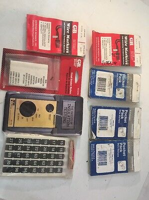 Gb Garner Bender Tb Wire Markers Circuit Breaker Marker Lot C He1