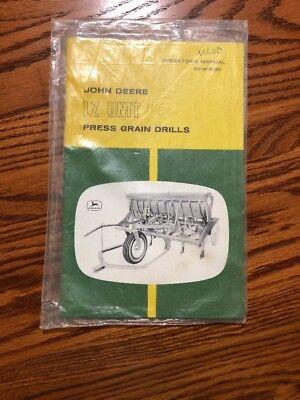 New John Deere Lz Grain Drill Omm19230 Operators Book