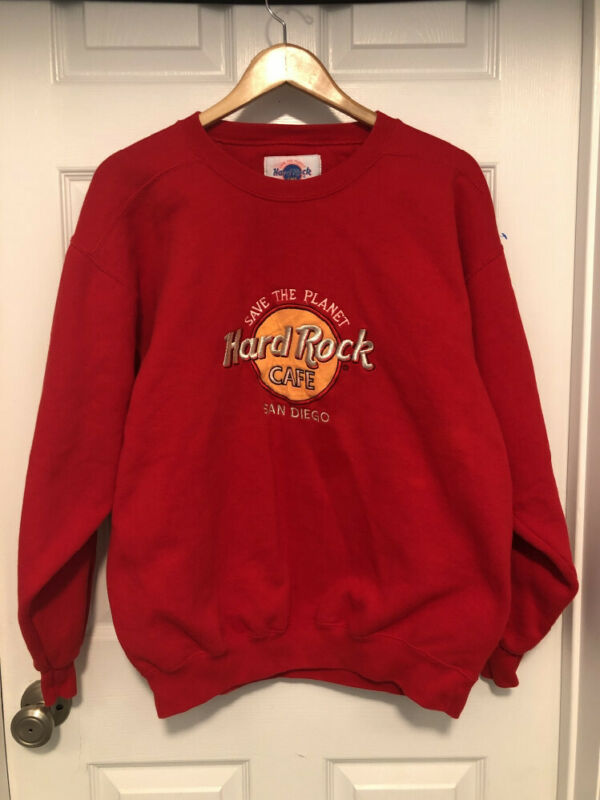Vintage Hard Rock Cafe Sweatshirt Mens Large San Francisco Purple Crew USA