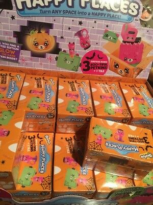 1X Shopkins Halloween Happy Places 3 Petkins Blind Pack With 3 Pets ONE PACK BOX - Happy Halloween Gaming