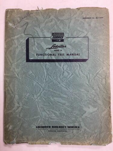 1946 Lodestar Original Functional Test  Manual