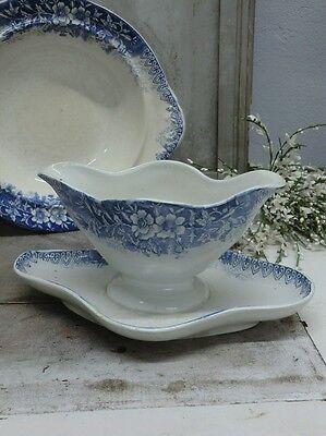 N1271 Sauciere Ludwig Wessel Bonn Keramik uralt Shabby Chic Brocante Jugendstil