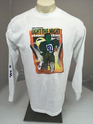 Vtg 1992 LIGHT THE NIGHT AGAINST CRIME SD Ca Halloween 8k souvenir tshirt XL USA](Light The Night Halloween)