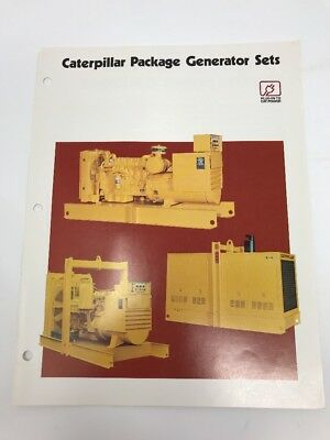 Vintage Caterpillar Brochure Electric Power Package Generator Sets