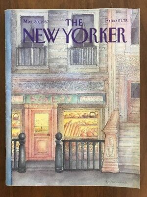 1987 March 30 The New Yorker Magazine Bakery Van Rynbach