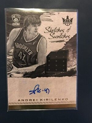 NBA Jersey/Auto Card Andrei Kirilenko Panini Court Kings 2017-18 62/344