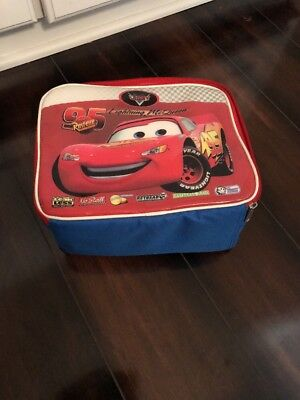 Vintage Disney Cars Lightning McQueen Insulated Soft Lunch Tote