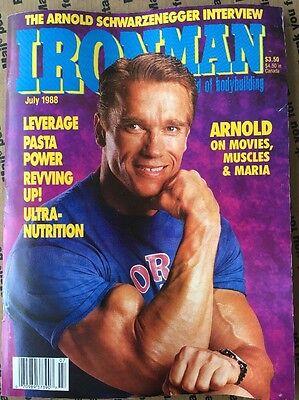 RARE Ironman Magazine July 1989 ARNOLD SCHWARZENEGGER FRANK ZANE BRIAN BUCHANAN