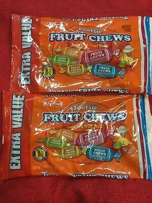 2 Bags TOOTSIE Rolls FRUIT CHEWS Assorted Flavored Candy CHEWY ROLLS 5.83 oz - Fruit Tootsie Rolls