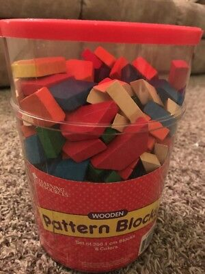 Learning Resources Wooden Pattern Blocks - Lot/Bucket LER334 1cm - oe