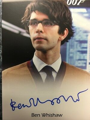 James Bond 007 Classics Autograph Card Ben Whishaw as Q