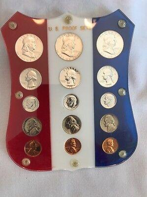 Nice 1955 1956   1957 Us Mint Proof Sets In Patriotic Vintage 3Yr Capital Holder