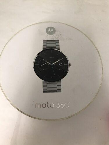 $59.99 - Moto 360 Smartwatch, Stainless Steel w/ Light Finish