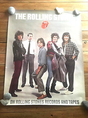 """ROLLING STONES poster -24x30""""-PROMO- 80s POSTER"""