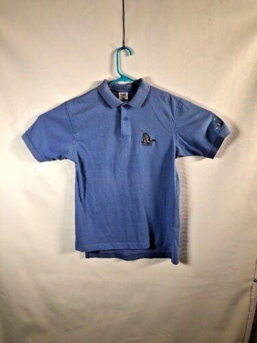Crazy Shirts Hawaii B Kliban Cat Blue Golf Polo Shirt Small Made in USA vtg 80s
