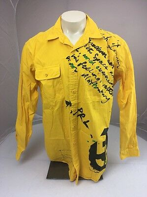 Vtg 90s Polo by Ralph Lauren Dungaree Workshop Yellow Long Sleeve Button shirt L